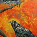 Raven Song, Wendy Dudley Art