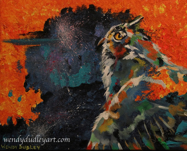 Owl, Ready for Night 8 x10 $275