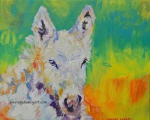 Peace, Wendy Dudley, Original Acrylic, 8 x 10ins, $150