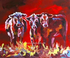 Three's A Crowd Original by Wendy Dudley 10 x 12 $325