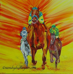 Triple Crown: Triple Courage Original Acrylic 20 x 20ins $800