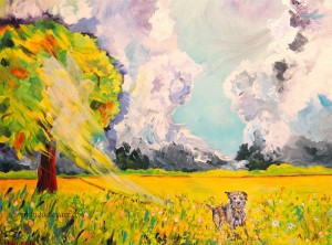 Finding Hope, Finding Home, Original Painting by Wendy Dudley, 24 x 18 $850