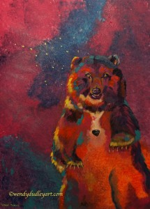 She-Bear: Ursus Major , with Sodalite stone Original by Wendy Dudley $950