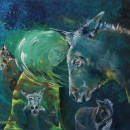 A Passion For Donkeys Original 24 x18 $1200