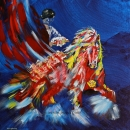 Flamenco Flurry 20x20 ins Giclee Canvas