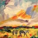 High Desert Burros Original 8 x8 $125