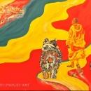 Walking With The Dalai Lama, Wendy Dudley Art