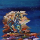 Reining Thunder Limited Edition Giclee 20x20 ins $350