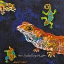 Art Gecko! 8 x 8 $150