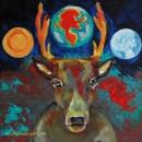 Deer Totem Original 8 x 8 SOLD