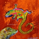 Gecko Viewing Rock Art 8 x 8 $150