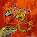 Gecko Viewing Rock Art 8 x 8 $150