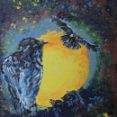 Inside The Raven's Nest Original 16 x 20 SOLD
