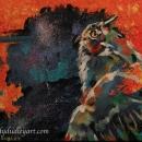 Owl, Ready for Night Original 8 x 10 $275