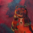 She-Bear: Ursus Major Original Acrylic with Sodalite stone Private Collection